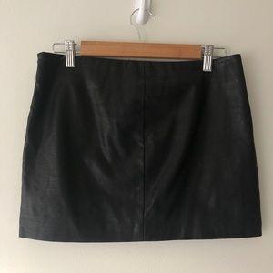 Zara Snakeskin Black Skirt